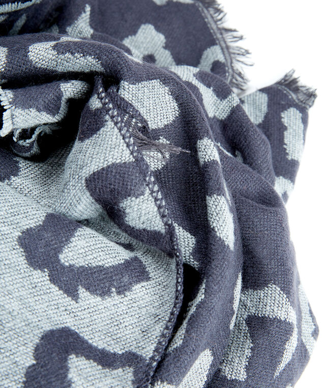 leopard ruana, Black/Grey