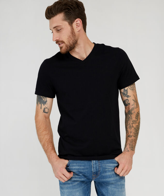owen v-neck, BLACK, hi-res