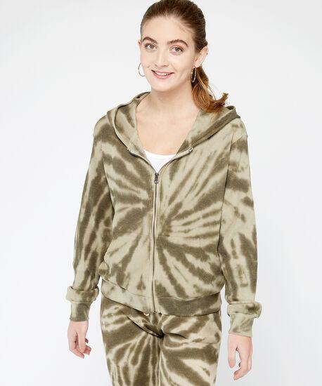 zip tie dye hoodie - wb, Natural, hi-res