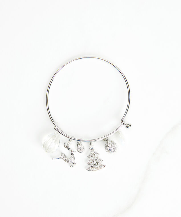 holiday charm bracelet, Silver, hi-res