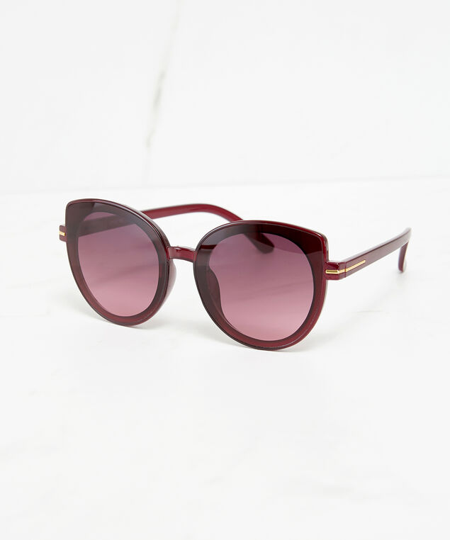 round cateye sunglasses, Wine, hi-res