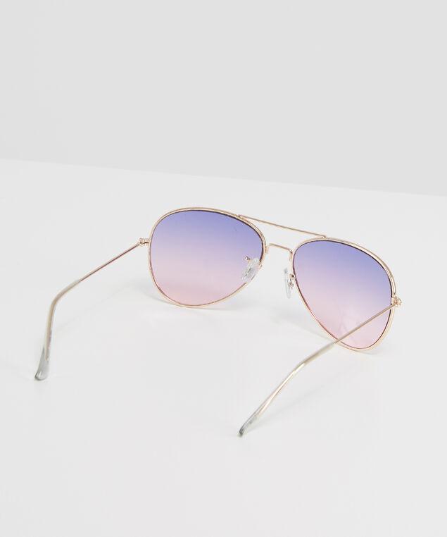 pink & purple gradient aviators, GOLD, hi-res