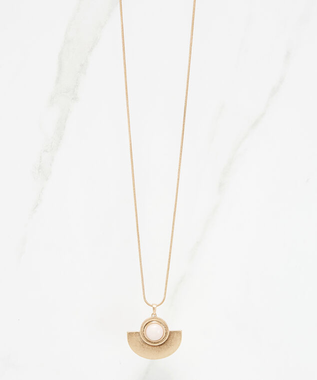 half circle pendant necklace, Gold, hi-res