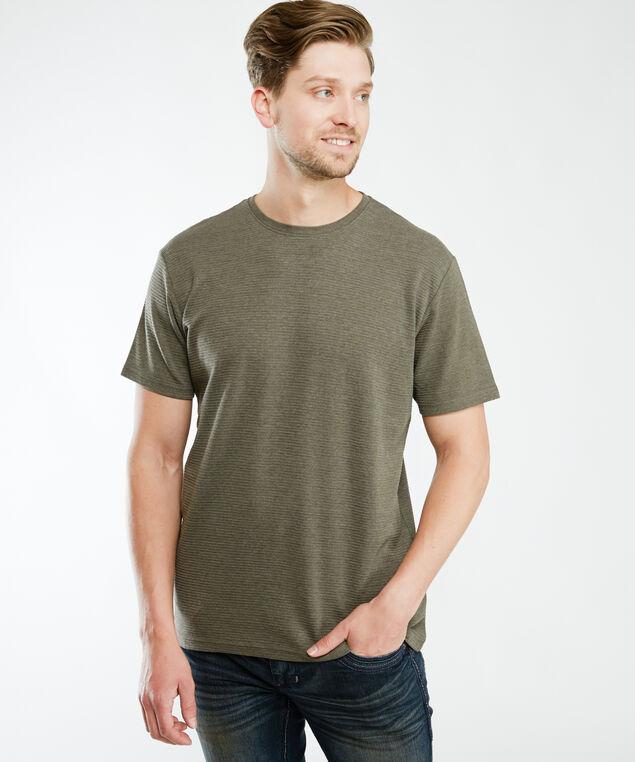 short sleeve ottoman knit tee, Md Green
