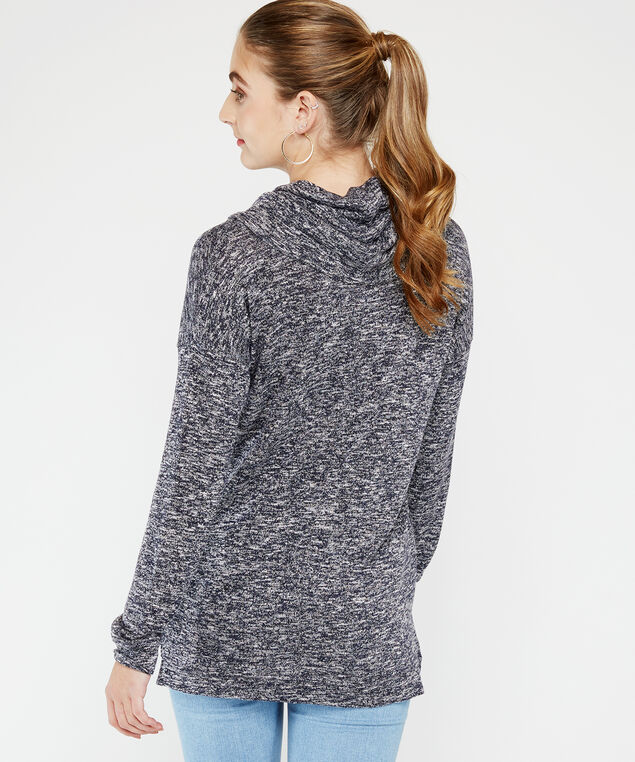 cowl neck top - wb, Navy