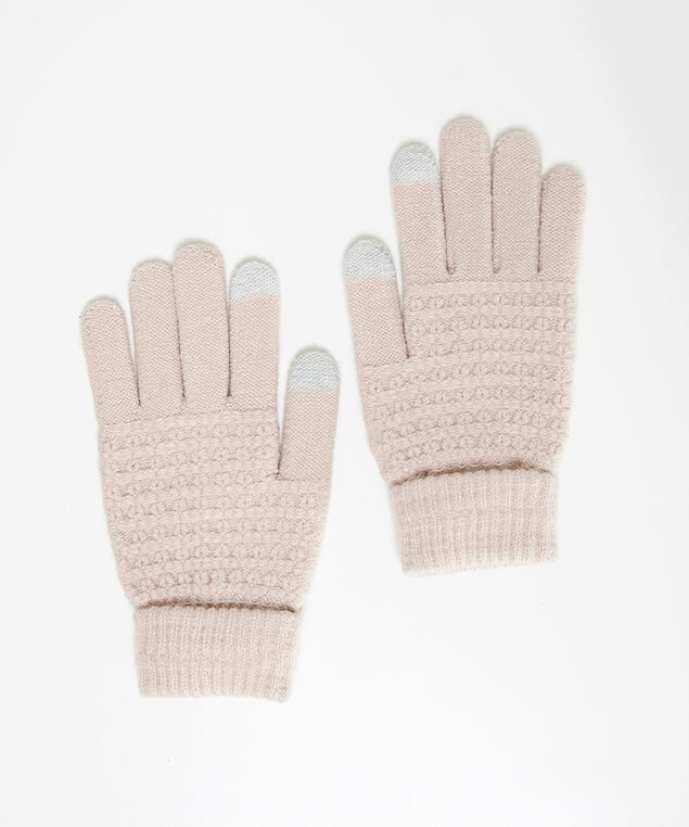 textured gloves, PINK, hi-res