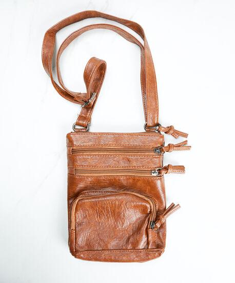 crossbody bag, Brown, hi-res