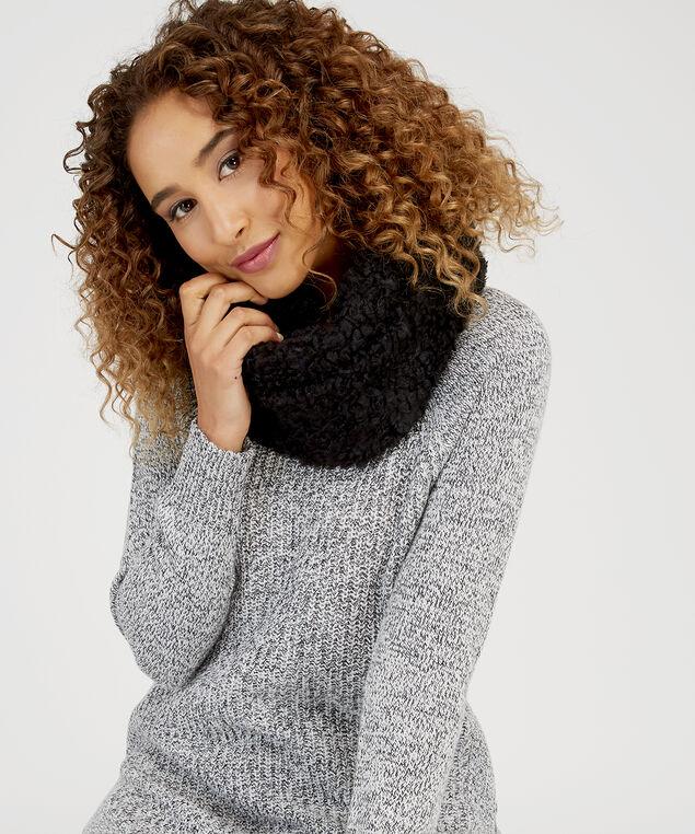 berber infinity scarf, BLACK, hi-res