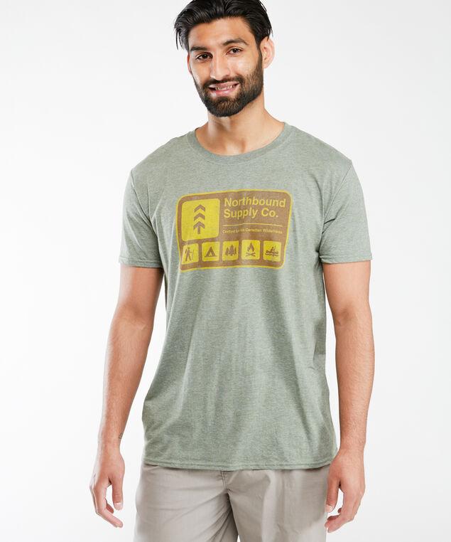 national park screen t-shirt, Md Green
