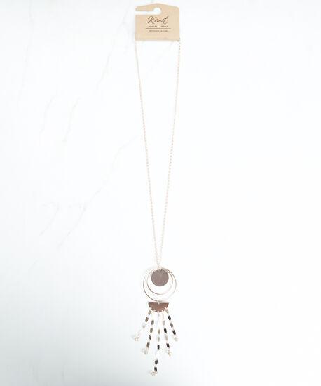 circle hoop pendant necklace, Rose, hi-res
