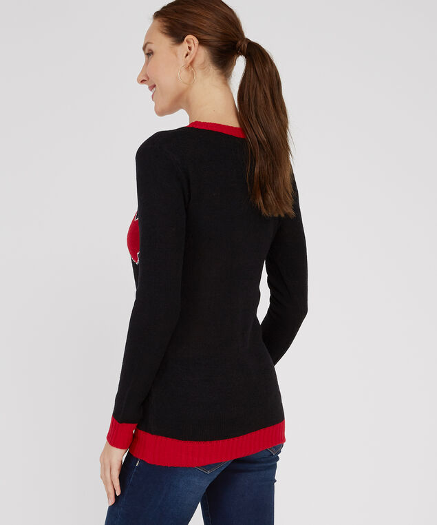 christmas tree sweater - wb, BLACK, hi-res
