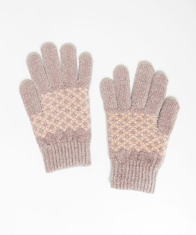 extra soft printed gloves, MAUVE, hi-res