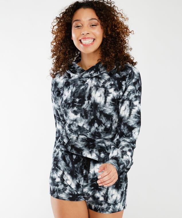 arya tie dye hoodie, Black and White Tie Dye
