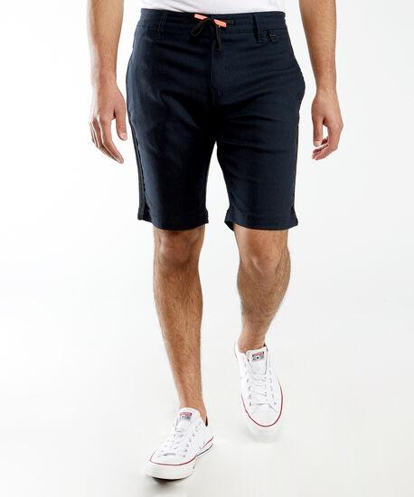 contrast drawstring waist short, Navy, hi-res