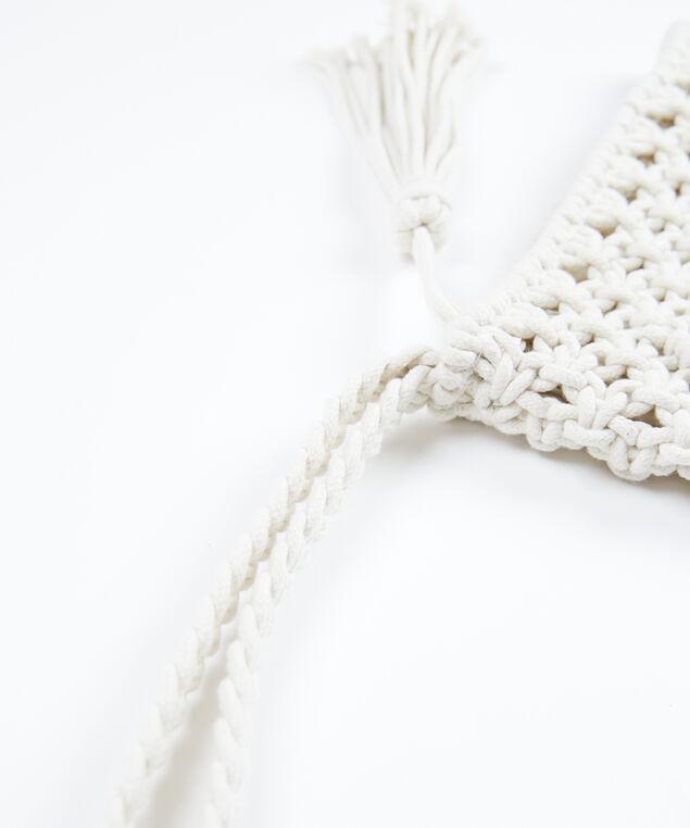 crochet clutch, Natural