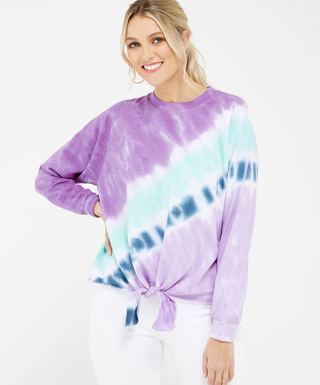 tie dye top - wb, Purple tie dye, hi-res
