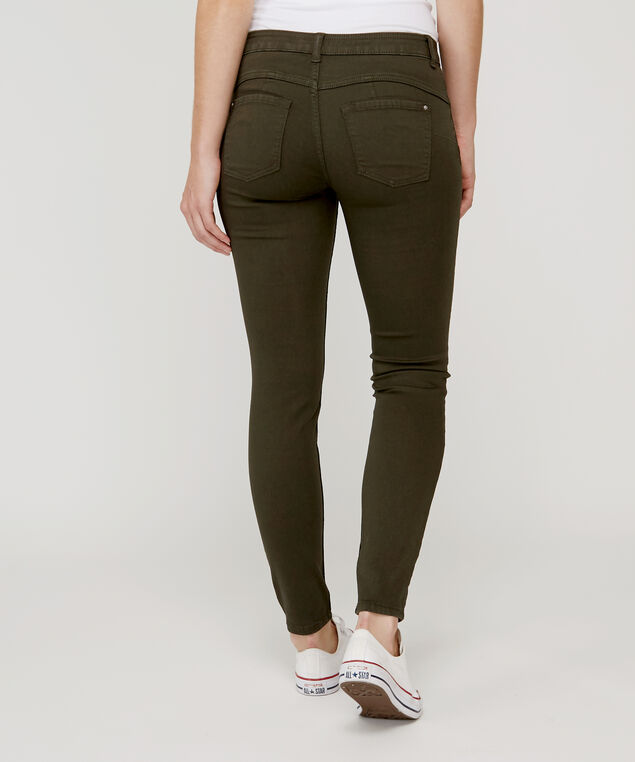 skinny ankle colour push up h18 olive, , hi-res