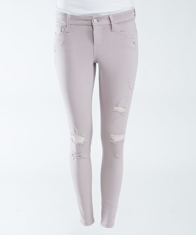 high rise skinny crop with destruction,