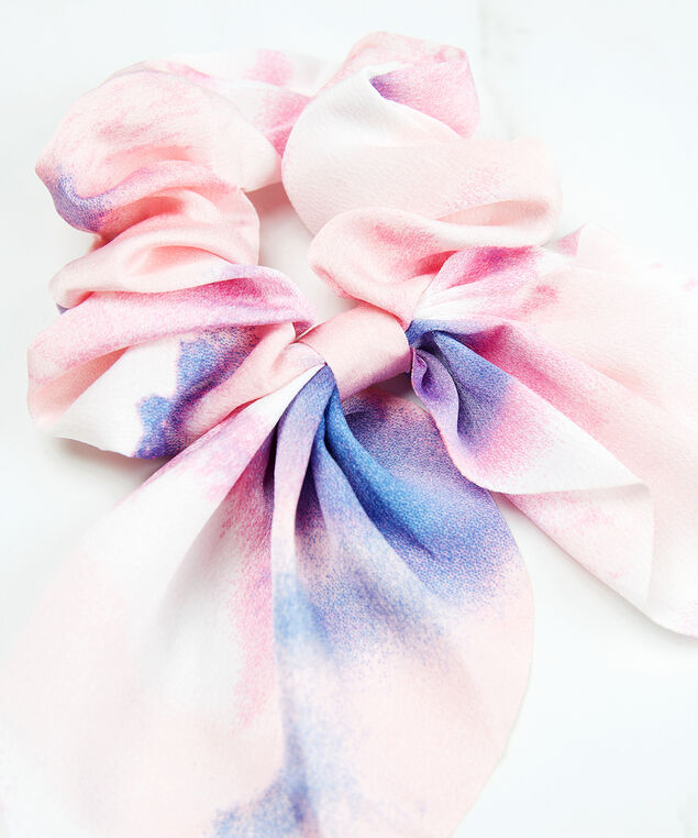 tie dye bow scrunchie, Pink