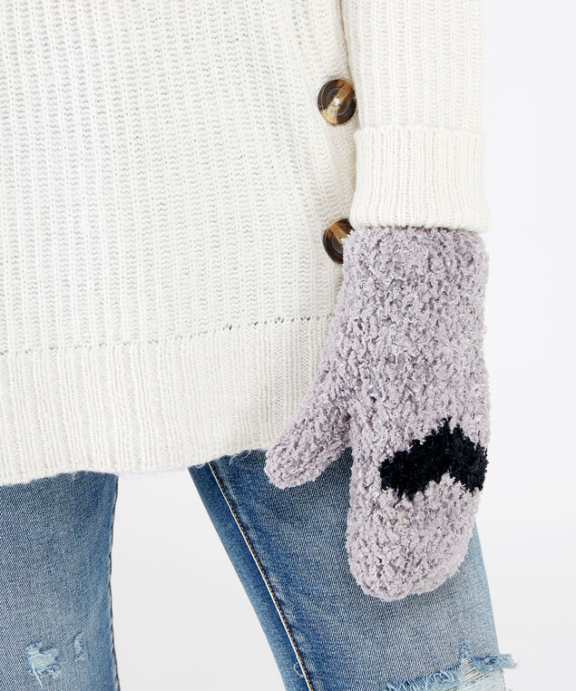 fuzzy heart mittens, PURPLE, hi-res