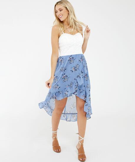 bellini, Blue Floral/Ivory Lace, hi-res