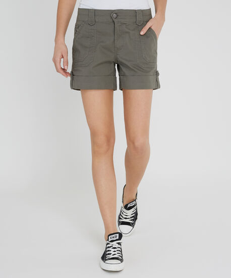 cuffed double pocket short - wb, OLIVE, hi-res