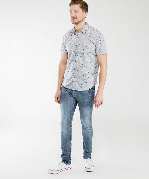 short sleeve shark shirt, Grey Shark Print