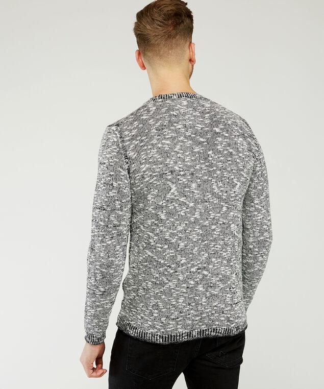 crew neck slub sweater, Grey