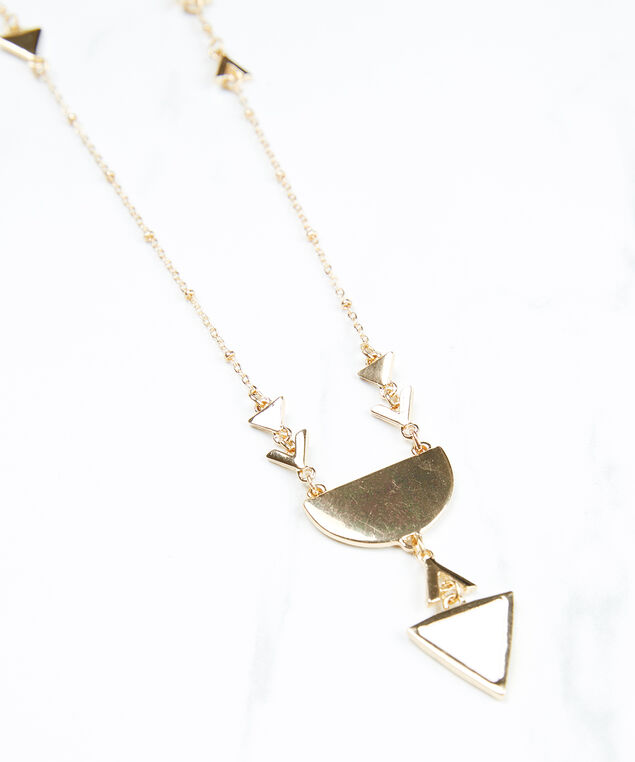 long pendant necklace, gold/silver, hi-res