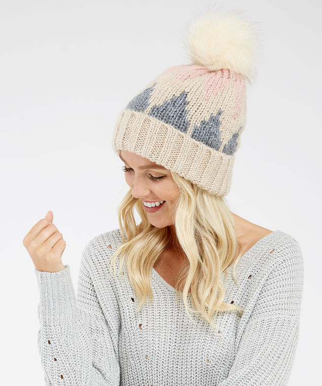 fair isle beanie, Neutral, hi-res