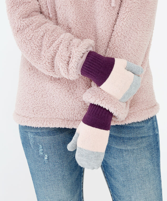 colour block mittens, colour block, hi-res