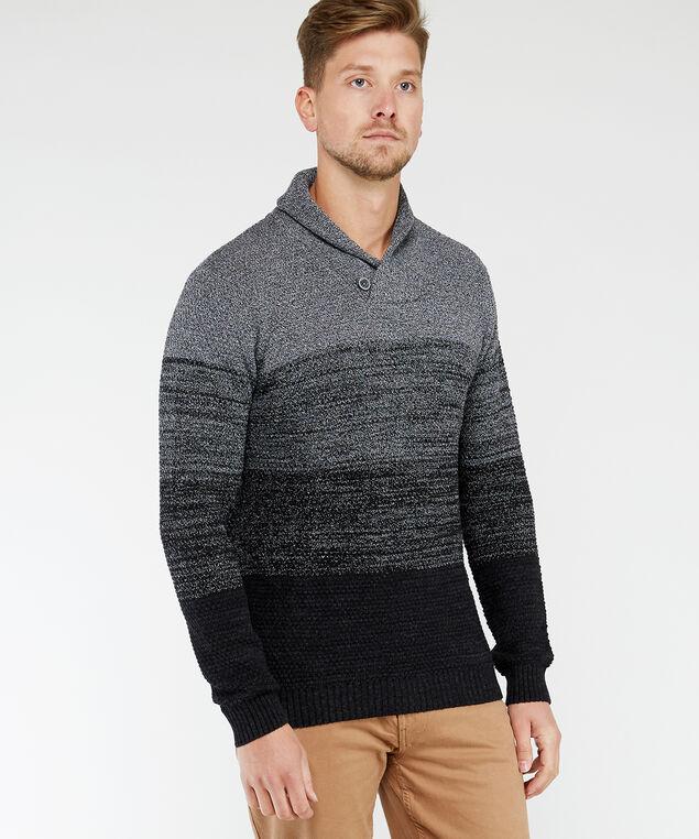 shawl collar pullover, Grey, hi-res