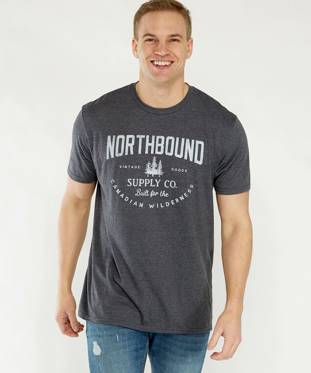 canadian wilderness tee, Charcoal