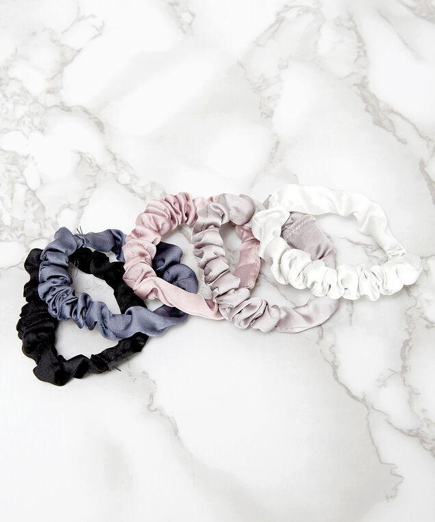 pack of 5 mini satin scrunchies, Multi, hi-res