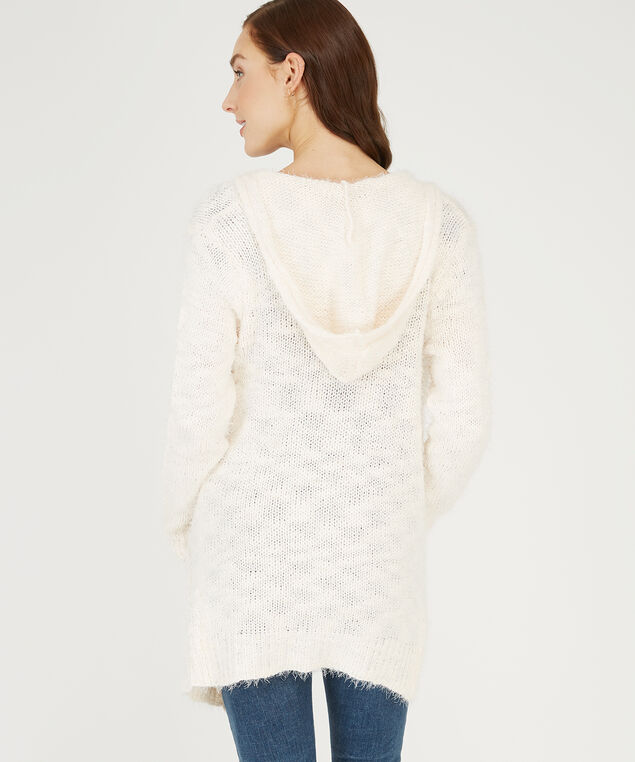 hooded cardigan, OFF WHITE, hi-res