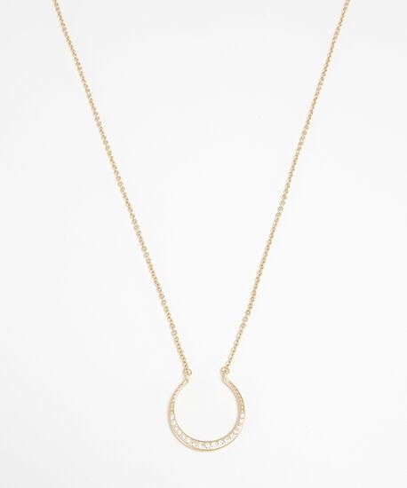 horseshoe necklace, GOLD, hi-res