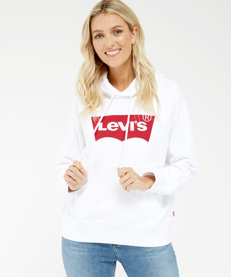 sport hoodie, White, hi-res