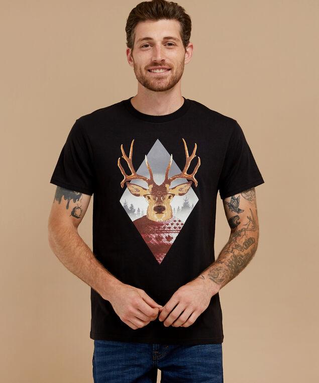 canadian deer tee, BLACK, hi-res