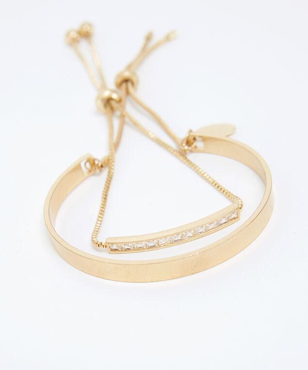 2 pack of bracelets, GOLD, hi-res