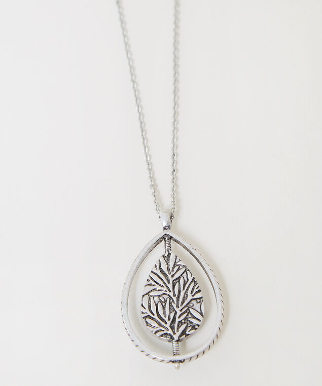 long pendant fiesta necklace, SILVER, hi-res
