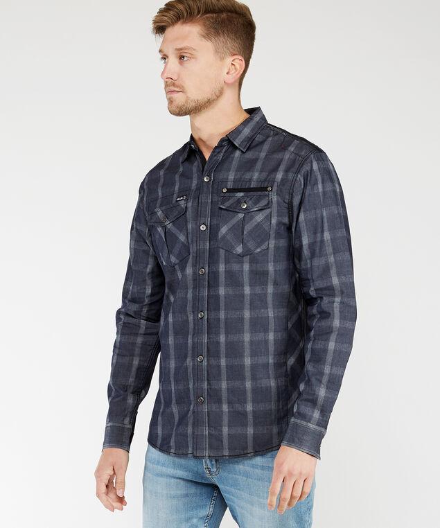 long sleeve shirt, Dk Blue, hi-res
