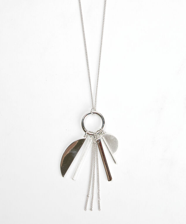 cluster pendant necklace, Silver