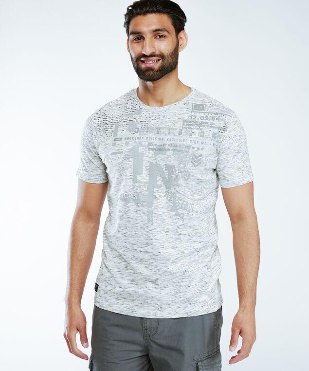 screen print tee shirt, Cream