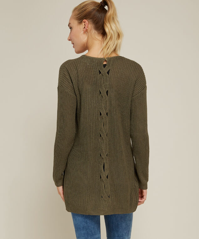 cable back cardigan - wb, DUSTY CAMO, hi-res