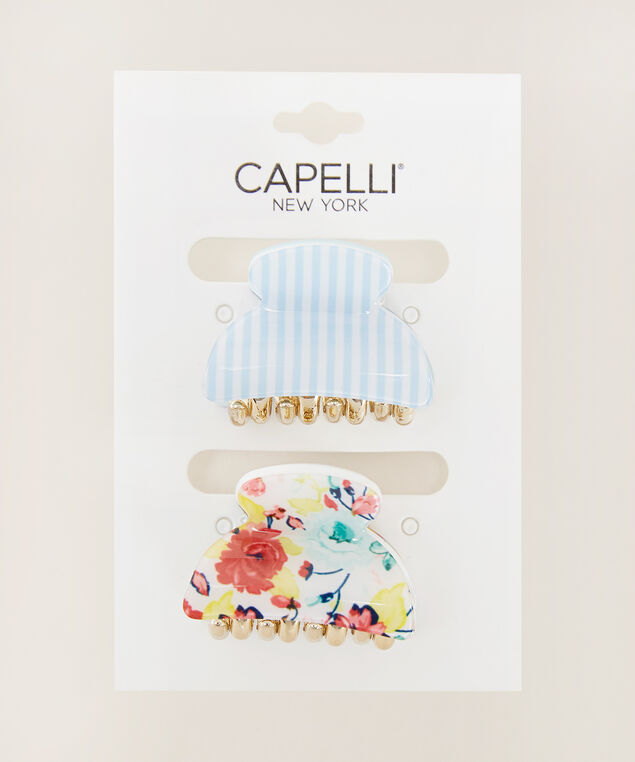 two pack hair clips, MULTI, hi-res