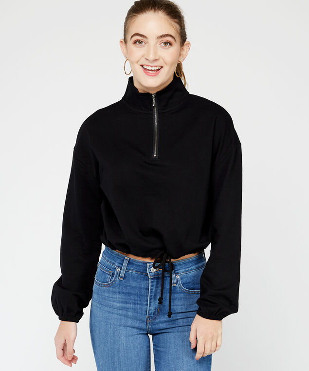 long sleeve popover - wb, Black, hi-res