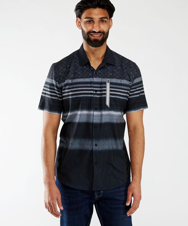 ss printed wicking shirt, Black