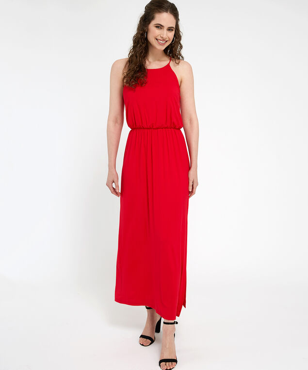 racerback maxi dress - wb, RED, hi-res