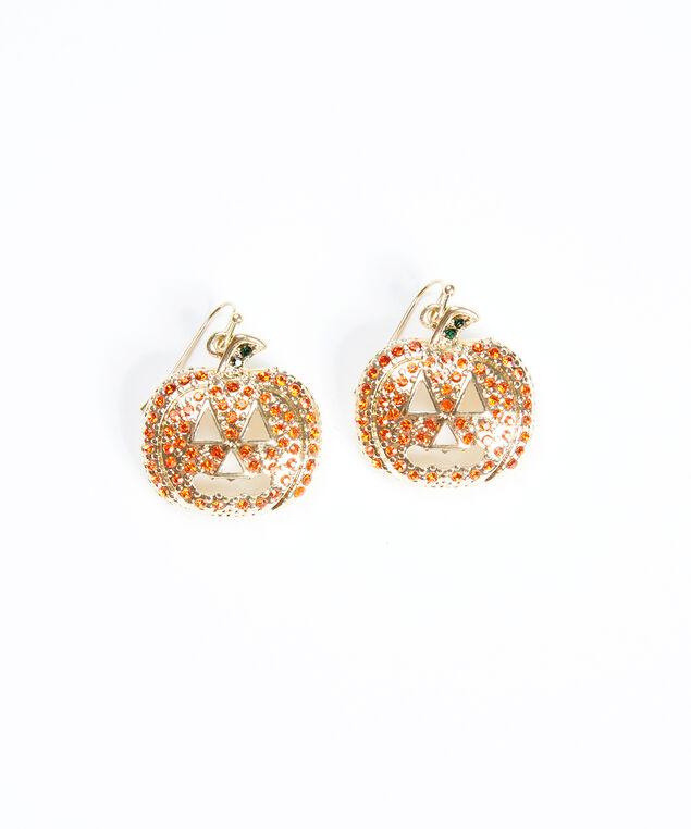 single halloween earrings, Gold