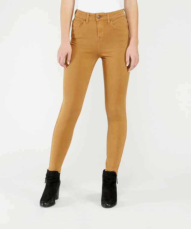 ultra high rise skinny ankle caramel, , hi-res